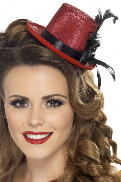 Mini Top Hat Burlesque Red